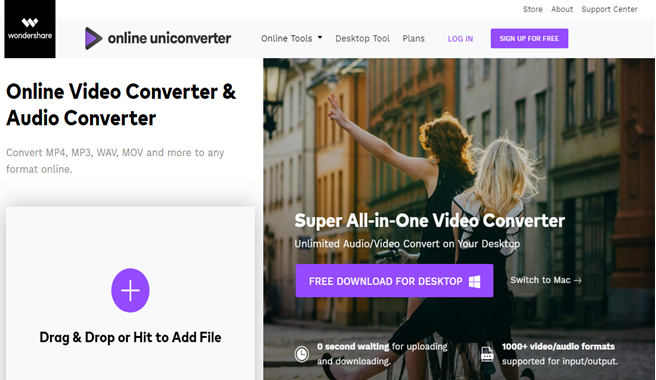 How to Convert MP4 to AVI by using Online Uni-Converter
